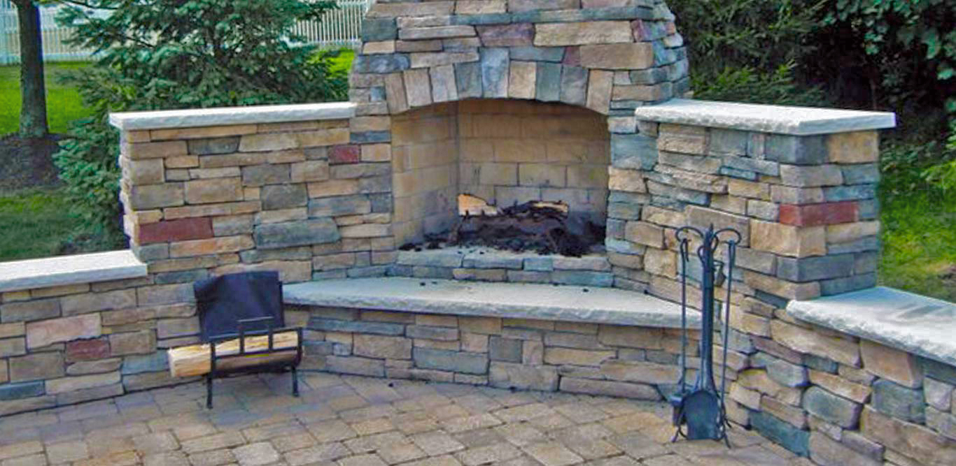 Brian G Persing Residential Masonry Outdoor Fireplace