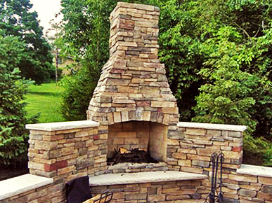 Brian G Persing Masonry residential outdoor stone fireplace